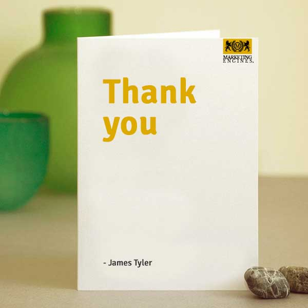 Thank you from James Tyler